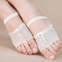 New Integrated Dancing Latin Yoga Ballet Shoes With Rhinestones For Women Girls Belly Dance Accessory Shoes