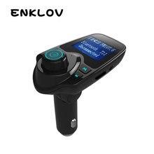 ENKLOV T11 Car MP3 Player Wireless Bluetooth FM Transmitter - Large Screen FM Transmitter Bluetooth Car Handsfree Car Bluetooth