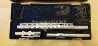 Gemeinhardt 3OS C Tune Flute Silver Plated High Quality 16 Keys Holes Open Flutes Musical Instrument With Case Free Shipping