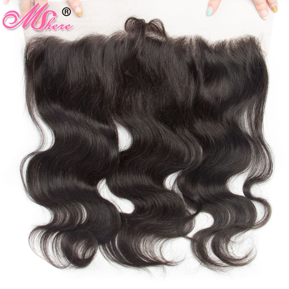 Brazilian Body Wave Human Hair Ear to Ear Lace Frontal Closure With Baby Hair 100 Human