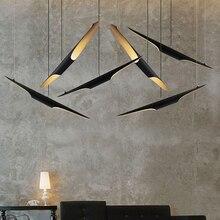 Coltrane Suspensión LLEVÓ Tubo de Aluminio de La Lámpara Colgante de Luz de Estilo Art Deco Restaurante Chandleier Negro & Golden Sola Cabeza