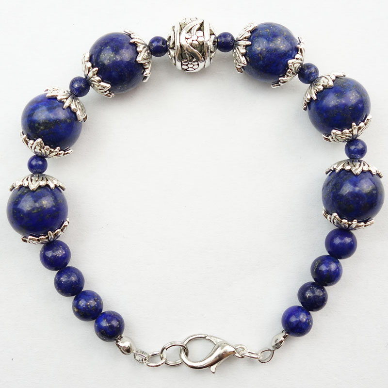 ୧ʕ ʔ୨Envío Libre!!! (1 Filamentos/porción) Natural Lapis Lazuli ...