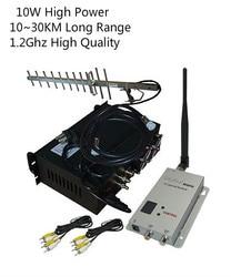 جهاز إرسال فيديو 1.2Ghz 10 واط UGV/UAV مع 70 كجم LOS جهاز إرسال واستقبال لاسلكي طويل المدى CCTV جهاز إرسال فيديو لاسلكي