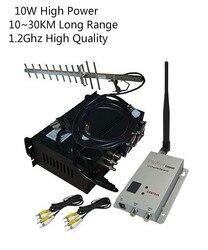 1,2 Ghz 10W UGV/UAV видео передатчик с 70KM LOS большой радиус действия беспроводной приемопередатчик CCTV беспроводной видео Отправитель