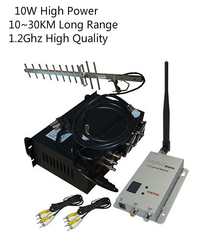 1.2Ghz 10W UGV/UAV Video Transmitter With 70KM LOS Long Range Wireless Transceiver CCTV Wireless Video Sender