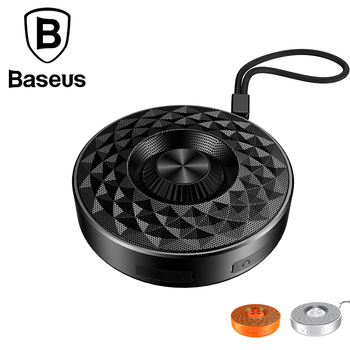 Baseus Portable Outdoor Bluetooth Speaker Waterproof Sports MP3 Player Mini 3D Stereo Music Surround Sound System , TF AUX USB titanium ring