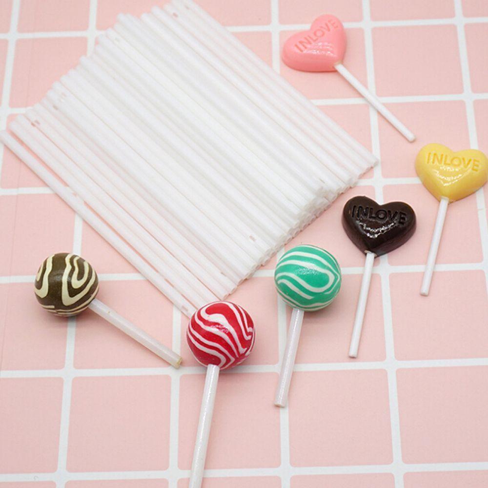 artesanías dulces Naranja-Plástico Piruleta Palos-alimentos seguros-Piruletas