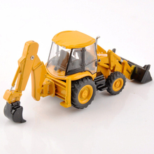 1/87 SCALE JCB3CX-4T Engineer Truck Model Excavator Forklift Models Engineering Vehicles Collection