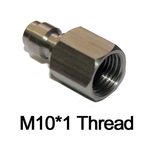 Image 4 - PCP airgun Inner Thread 1/8 27 NPT M10*1 1/8BSP Male Quick Disconnect Adaptor Stainless Steel Fill Nipple paintball New