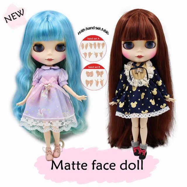 Muñeca Blyth desnuda 1/6 cuerpo de articulación cara mate piel blanca 30cm DIY juguetes de BJD regalo de moda oferta especial diferente color de pelo en venta