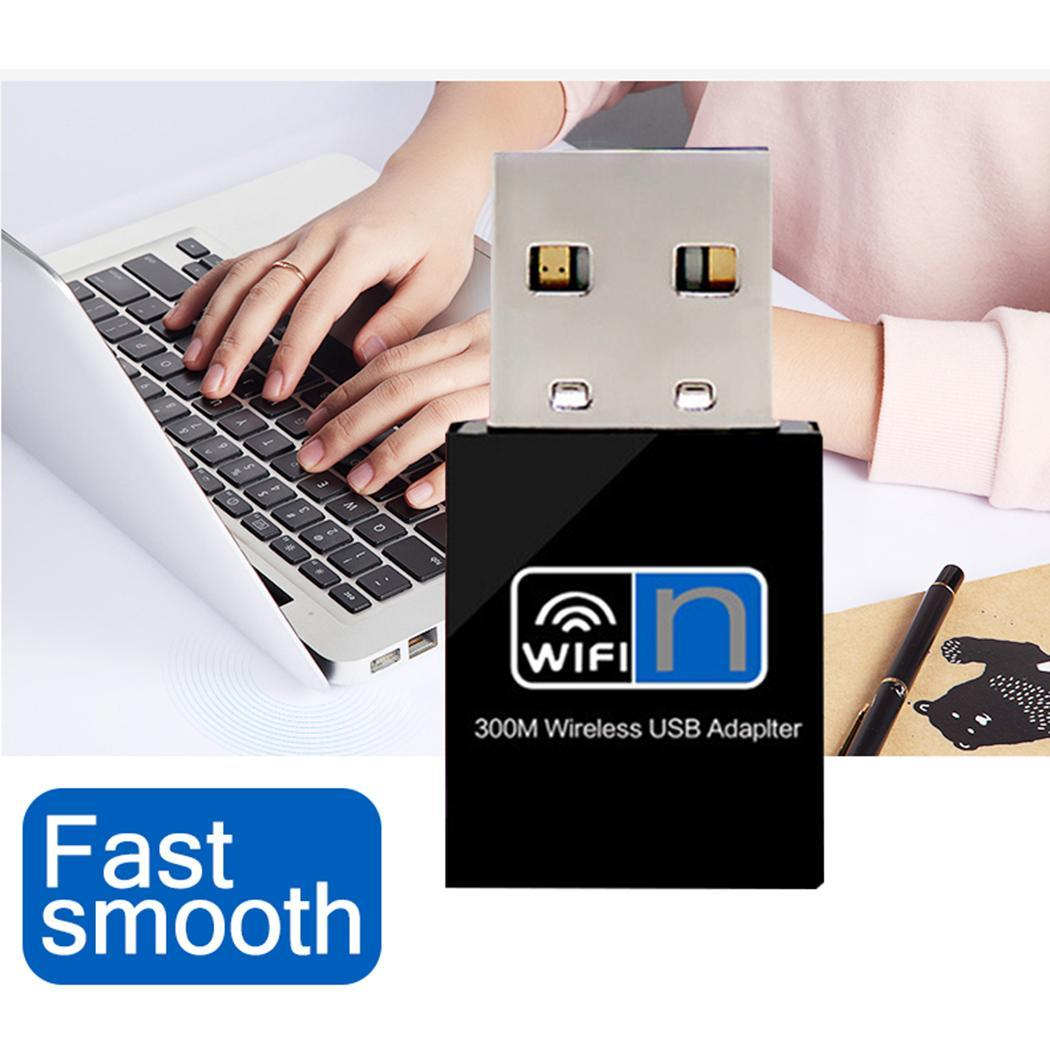 300Mbps Wireless Mini Wi-Fi USB Adapter Extend WiFi Up To 300Mbps. 2.0 WiFi Casual Portable Network 2.4GHz Card
