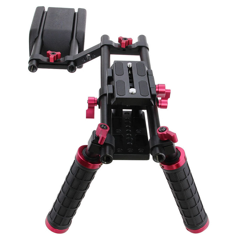 CAMVATE DSLR Rig Shoulder Support Mount Rig Kit+Dual Handle Grip Video Camera Stabilizer Dslr Cage Steadicam Accessories C9034 camvate dslr handle camera grip wooden handgrip right hand for arri alexa extender arm shoulder support system c1321