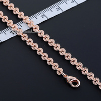 Fashion Gift 4MM CUT Rolo Round Link Womens Mens Chain Ladies Girls Yellow Rose Gold Filled