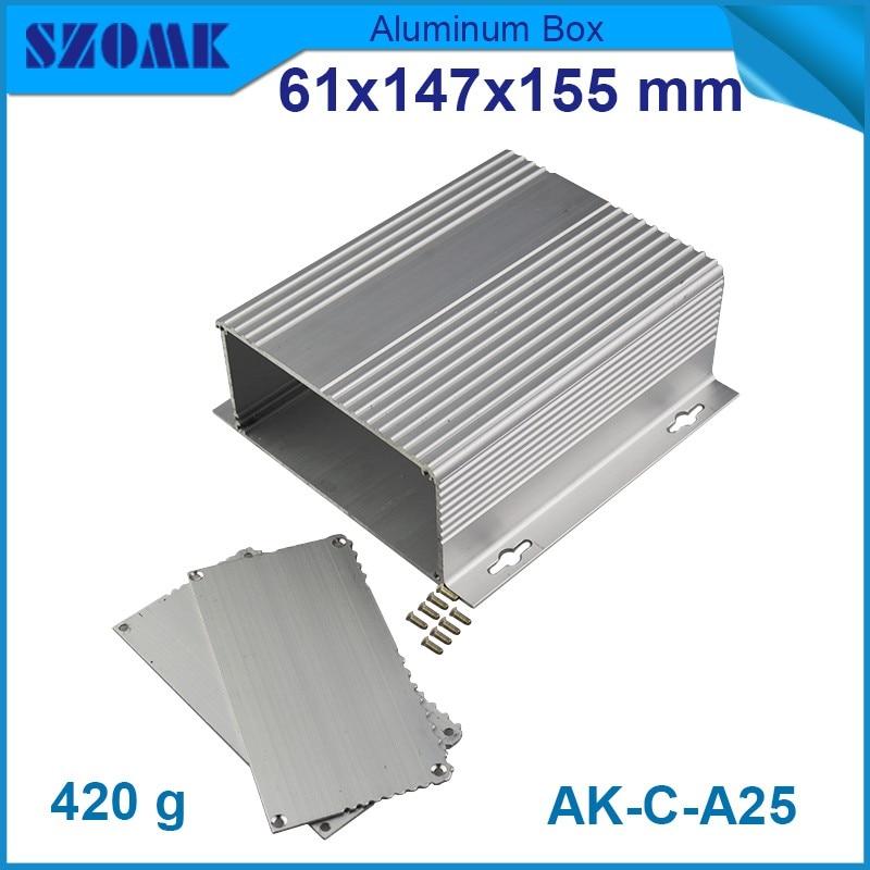 4 pcs/lot instrument aluminum server rack enclosure electronics 61*147*155mm junction box housing elelctronics case - Eletronic Connector & Enclosure World store