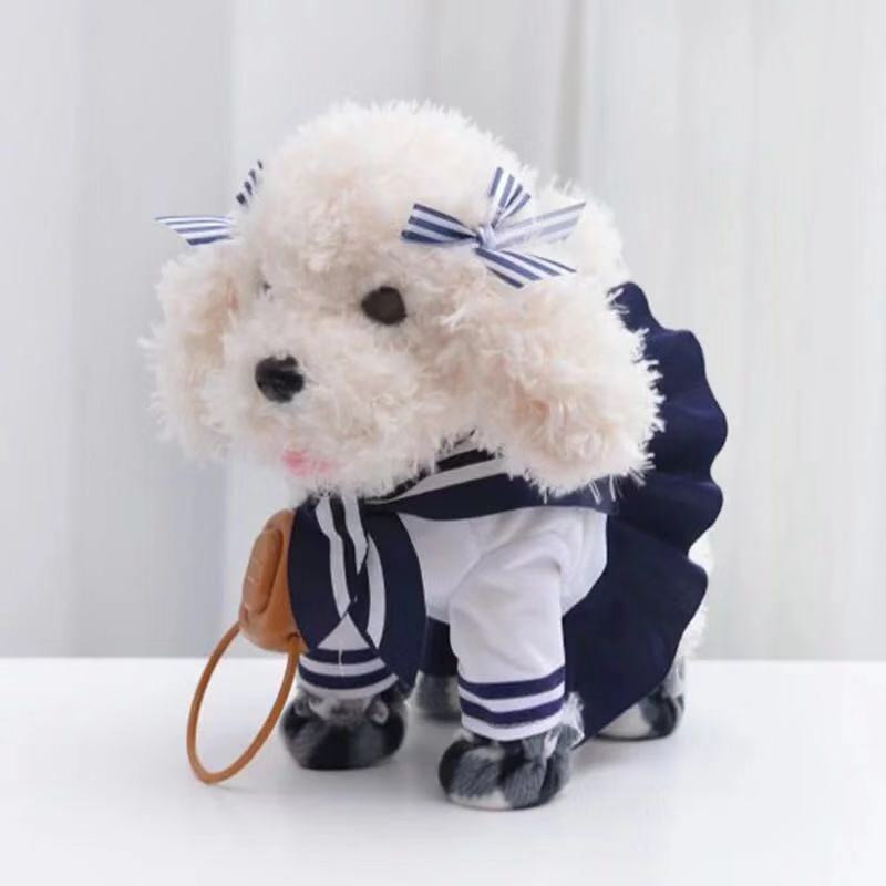 New Doll Walking Singing Musical Robot Dog Electronic Pet Toys Interactive Electric Pets Plush Toy Dog Christmas Gift For Kids