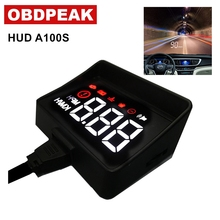 Newest obd hud display A100S Car HUD Head Up Display Overspeed Warning System Projector Windshield Auto Electronic Voltage Alarm