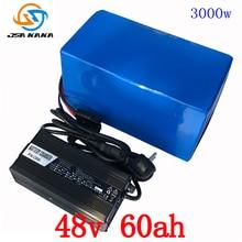 48 В 2000 Вт 3000 Вт батарея 48 В 60AH литиевый аккумулятор 48 В 60AH Электрический велосипед аккумулятор с 70A BMS + 54,6 В 5A Зарядное устройство duty free