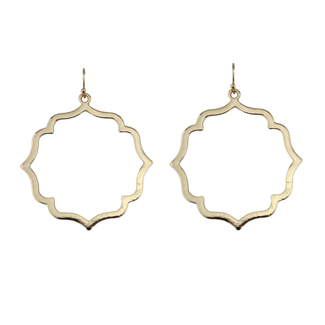 Let It Be Whole Gold Silver Rose Filigree Earrings Women Hollow Out Clover