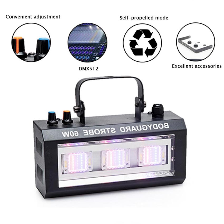 Mini LED Strobe Stage Light Effect 60W 3leds Strobe Flash For DJ Disco Party KTV Room Strobe Lights LED Lamp KTV Party Lighting цена