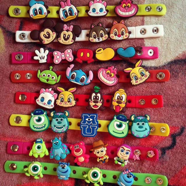 10 Pcs Lots Children Cartoon Character Silicone Embly Diy Bracelets Kids Animation And Comic Product In Action Toy Figures From Toys Hobbies On