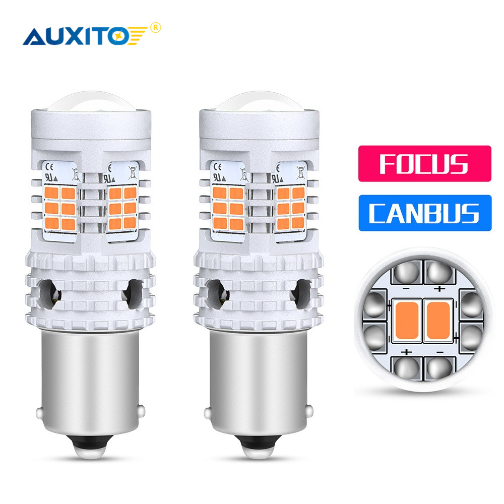 AUXITO 2x Error Free <font><b>Canbus</b></font> S25 1156 BA15S P21W <font><b>LED</b></font> BAU15S <font><b>PY21W</b></font> Lamp T20 7440 W21W Auto <font><b>Led</b></font> Bulbs Turn Signal Light Car lights image