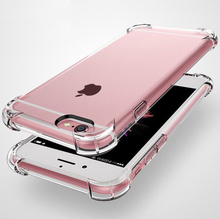 4 airbag clear Phone Case For iPhone X XR XS Max 8 7 Plus 6 6S Transparent Soft Shockproof Back Cover Powder