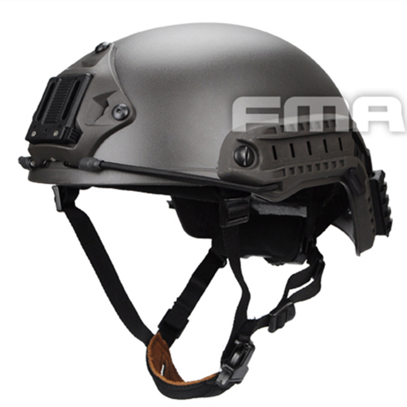 TB-FMA 2017 New Ballistic Helmet Tactical Fast Helmet for Airsoft Paintball ABS Material Cycling Helmet Mass Grey Free Shipping high quality outdoor airframe style helmet airsoft paintball protective abs lightweight with nvg mount tactical military helmet