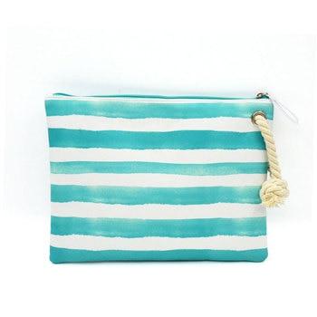 BONAMIE Women's Wet Bikini Clutch Bag Brand Designer Fashion Stripe Lady's Handbag Flamingo Hemp Rope Beach Bags Bolsa Feminina