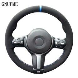 Nero In Pelle Scamosciata Volante In Pelle Auto Copertura Della Ruota di Copertura per BMW F87 M2 F80 M3 F82 M4 M5 F12 F13 M6 F85 x5 M F86 X6 M F33 F30 M Sport
