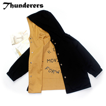 Thunderers Spring Autumn Kids Jacket For Girl Boy Both Sides