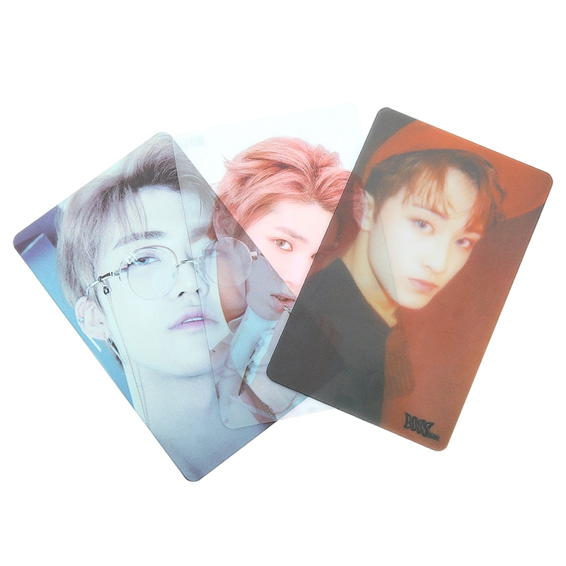 Stationery Set School & Educational Supplies 7/8/9 Pcs/set Nct U 127 Boss Album Self-made Pvc Taeyong Mark Lomo Cards Photocard Kpop Transparent Photo Card Jade White
