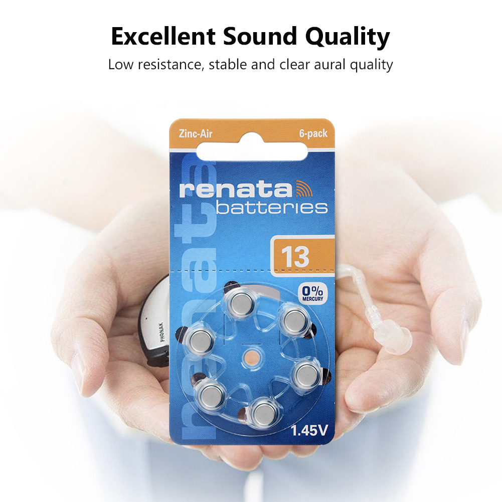 48Pcs lot Zinc Air Button Cell 13 PR48 ME8Z 1 45V 305mAh Hearing Aid Battery E13 Replaces 13A A13 P13 PR48 ZA13 Batteries in Button Cell Batteries from Consumer Electronics