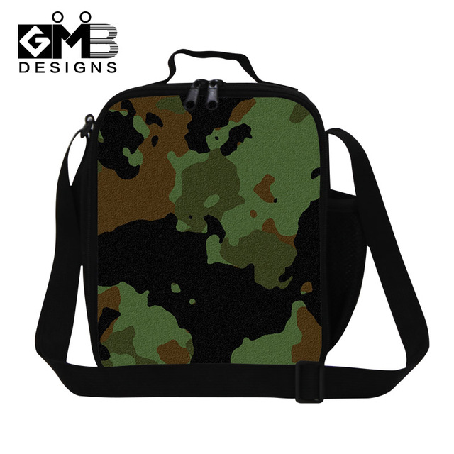 Camouflage Lunch Bags Pattern For Boy Mens Stylish Container Cool Insulated Box