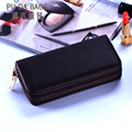 Famous Brand Clutch Bag Men Wallets Black Brown Luxury Large Capacity Gift for Male Double Zipper Long Wallet Handbag Purse
