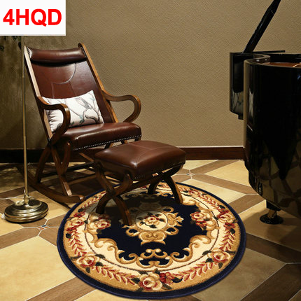 Tapis rond européen chaise d'ordinateur tapis de sol pivotant moderne minimaliste chambre table basse tapis américain