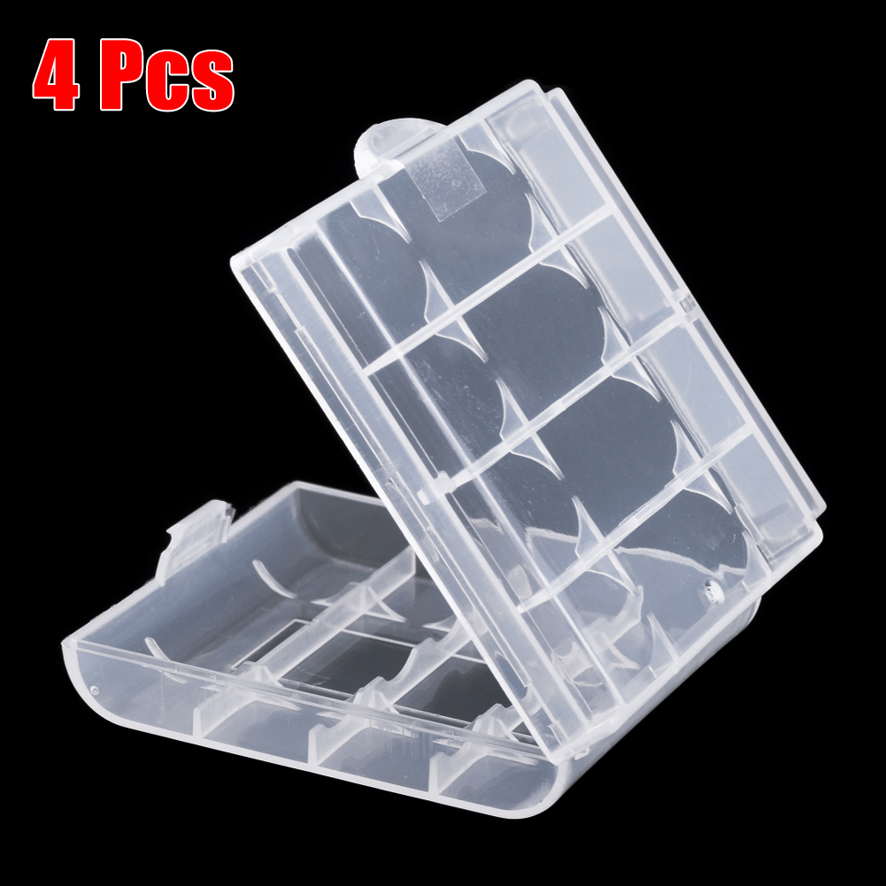 YCDC Brand 4PCS AA Battery Hard Plastic Case Cover Holder For AA AAA Battery  Storage Box