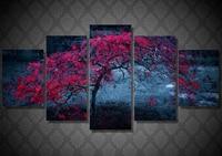 5d Diamond embroidery Cross stitch kit 3d Diy Diamond painting Needlework Full Rhinestone Tree Leaves Purple AutumnPT