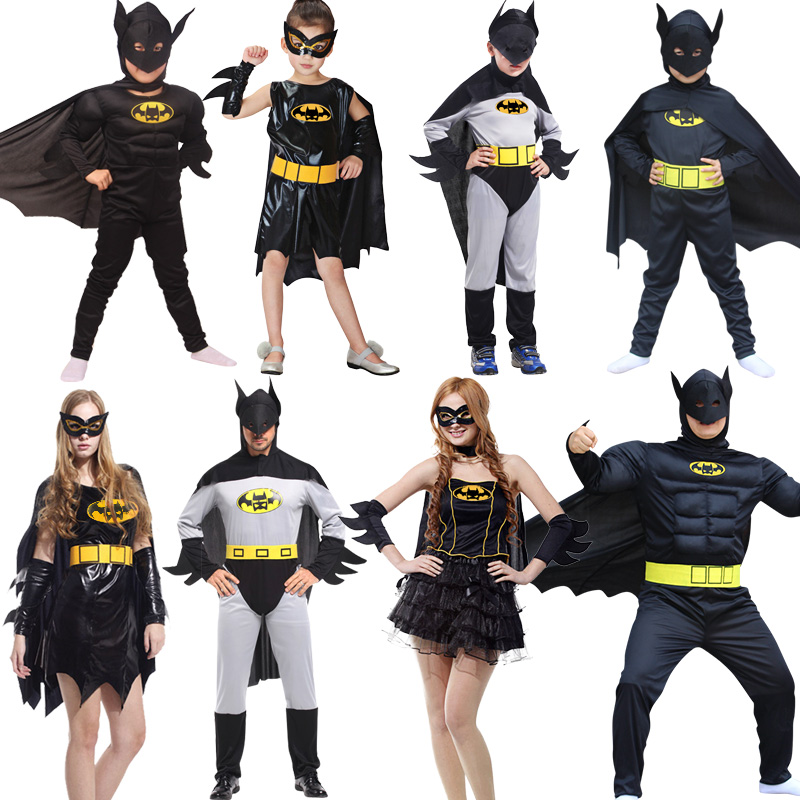 NoEnName Cosplay anime za odrasle Batman Kostume Halloween Dress Party oblačila počitnice Karnevalske noše Lep Batman Jumpsuit
