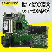 X750JB материнской i7 4700HQ GT740M/2 ГБ Оперативная память для ASUS A750J K750J K750JB Материнская плата ноутбука X750JB плата X750JB Тесты 100% OK
