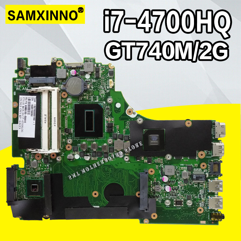 X750JB Motherboard i7 4700HQ GT740M/2GB RAM For ASUS A750J K750J K750JB laptop Motherboard X750JB Mainboard X750JB test 100% OK