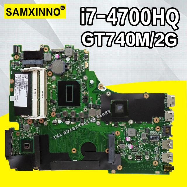 X750JB материнская плата i7-4700HQ GT740M/2 Гб оперативной памяти для ASUS A750J K750J K750JB материнская плата для ноутбука X750JB материнская плата X750JB тест 100% OK