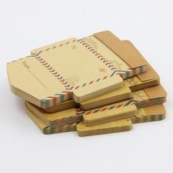 Ретро Винтаж конверты из крафт-бумаги Мини милый кавайный мультяшный записная книжка Письмо Конверт подарки