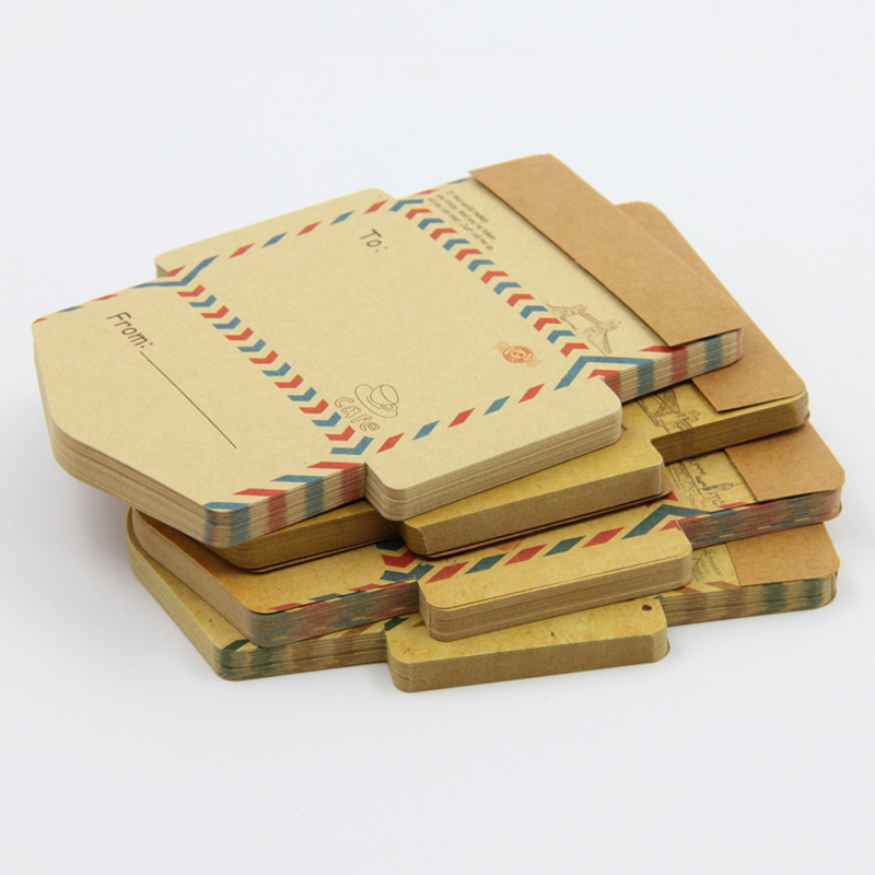 Retro Vintage Kraft Paper Envelopes Mini Cute Kawaii Cartoon Stationery Post Letter Envelope Gifts
