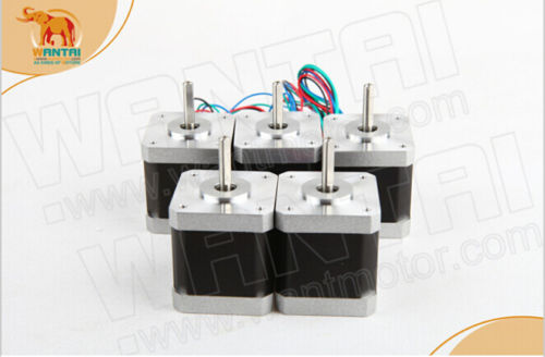 5PCS Wantai 4-lead Nema 17 Stepper Motor 42BYGHW609P1 D-shaft 56oz-in 40mm 1.7A CE ROSH ISO CNC 3D Printer, Reprap,free ship5PCS Wantai 4-lead Nema 17 Stepper Motor 42BYGHW609P1 D-shaft 56oz-in 40mm 1.7A CE ROSH ISO CNC 3D Printer, Reprap,free ship