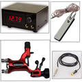 Super Combo Packs Tattoo Power Supply+RCA Clip Cords+Hot Sale Dragonfly Rotary Tattoo Machine+Foot Switch Pedal Free Shipping