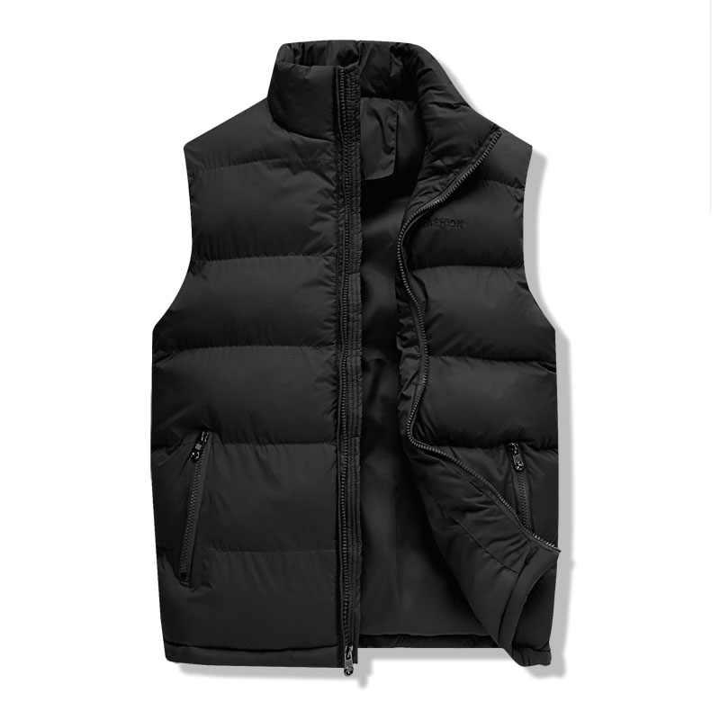 Männer Westen Jacke Ärmellose Weste Weste Schwarz 2019 Neue Winter Herbst Warme Baumwolle Thermische Schulter Version Dicker Weste