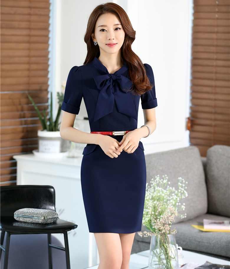 e0ca0bbcee7 Летние модные строгие женские платья короткий рукав женские офисные работа  платье ПР Стиль тонкий женский темно