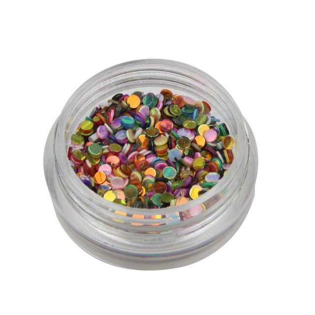 1 set 6 Color New Design Round Shape Nail Glitter Powder Dust 3D Nail Art Decorations Nail Art Bottle Tip Set DIY Tools WY214