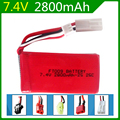 7.4V 2800mAh Lipo Battery For Huanqi 955 948 Feilun FT009 2.4G Remote Control boat speedboat 2800 mah Li-po 2S Battery For Toys
