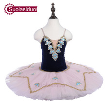 Blue Performance Ballet Tutu Stage Wear Kids Professional Dance Competition Costumes Women Pink Dresses